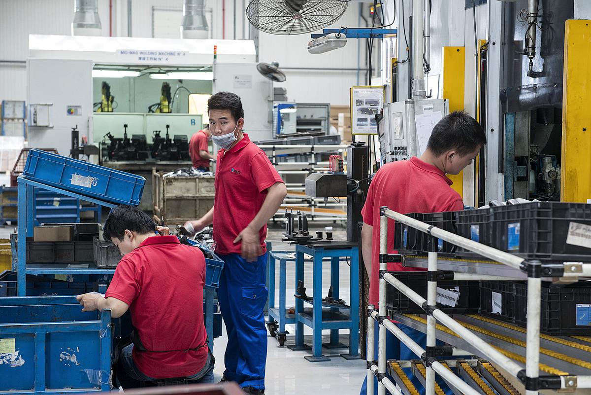 Igorreko Batz kooperatibaren lantegia, Mondragon taldearen poligonoan,Kunshan hirian. ©ZIGOR ALDAMA