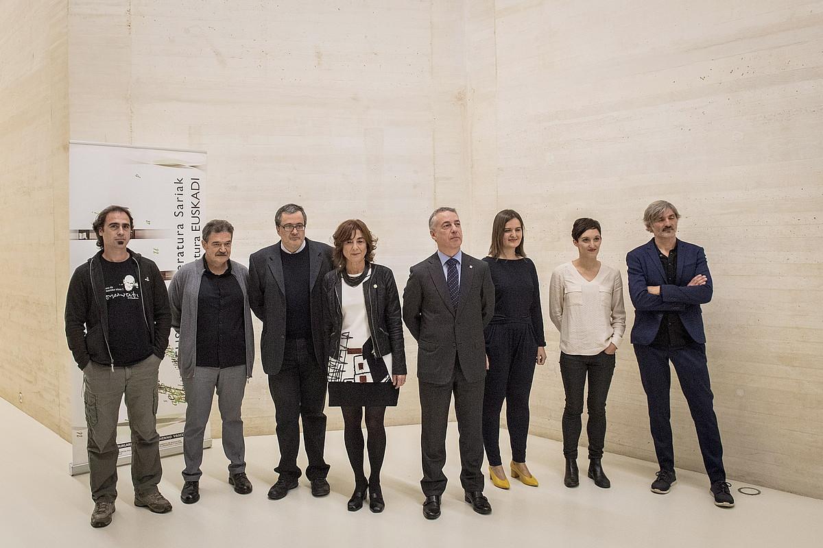 Joan den urtean Donostian egin zuten Euskadi literatura sariak banatzeko ekitaldia. ©GORKA RUBIO / ARGAZKI PRESS