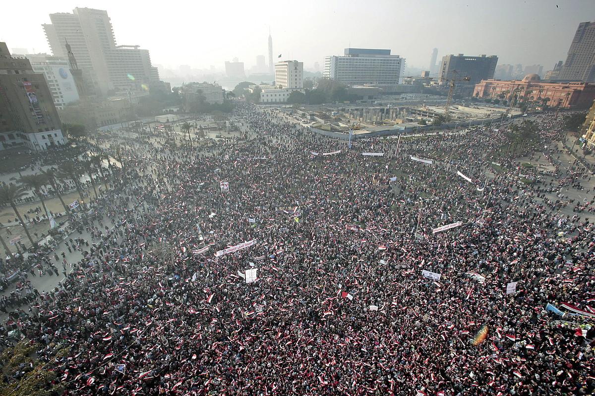 Kairoko Tahrir plaza iraultzen hirugarren urtemugan, 2014ko urtarrilaren 25ean.