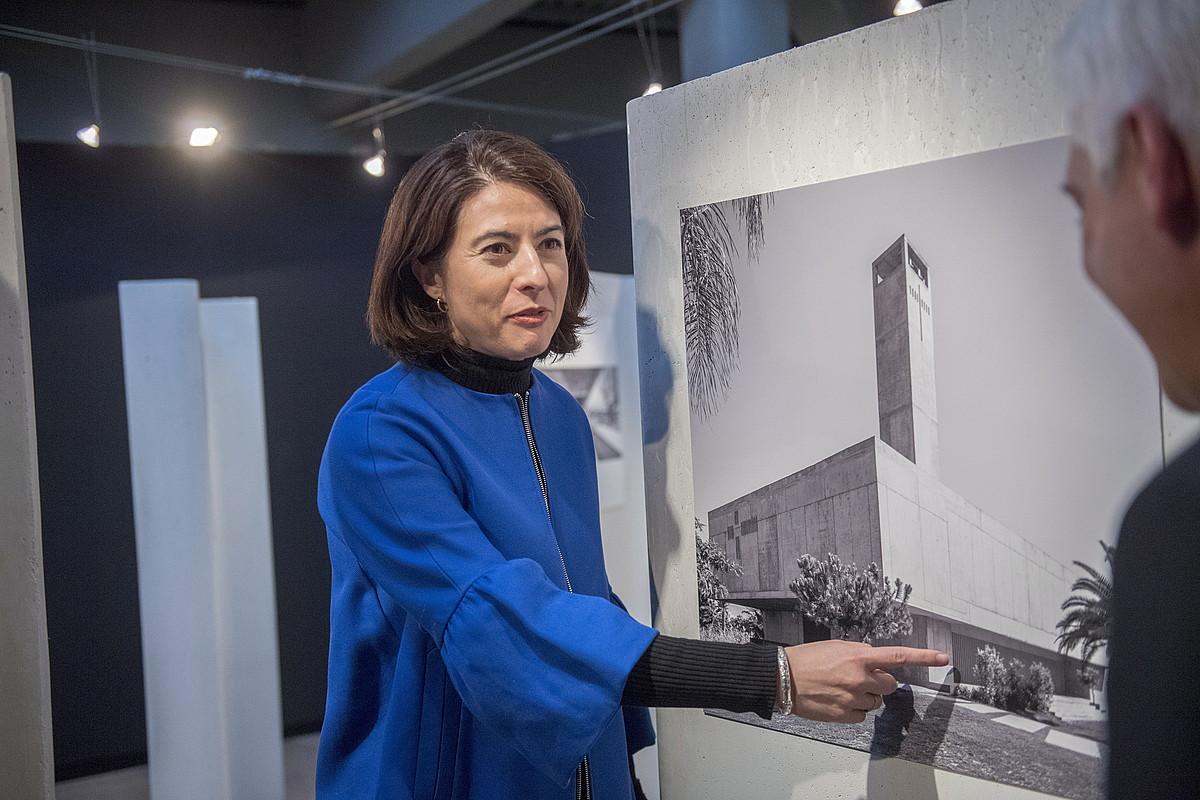 Elisa Valero, atzo, museoan egindako aurkezpenean. ©GORKA RUBIO / ARGAZKI PRESS