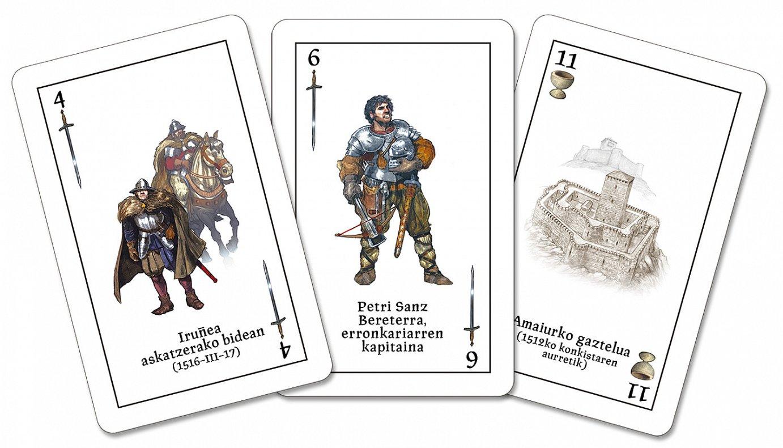 Kartherria bildumako hiru karta.