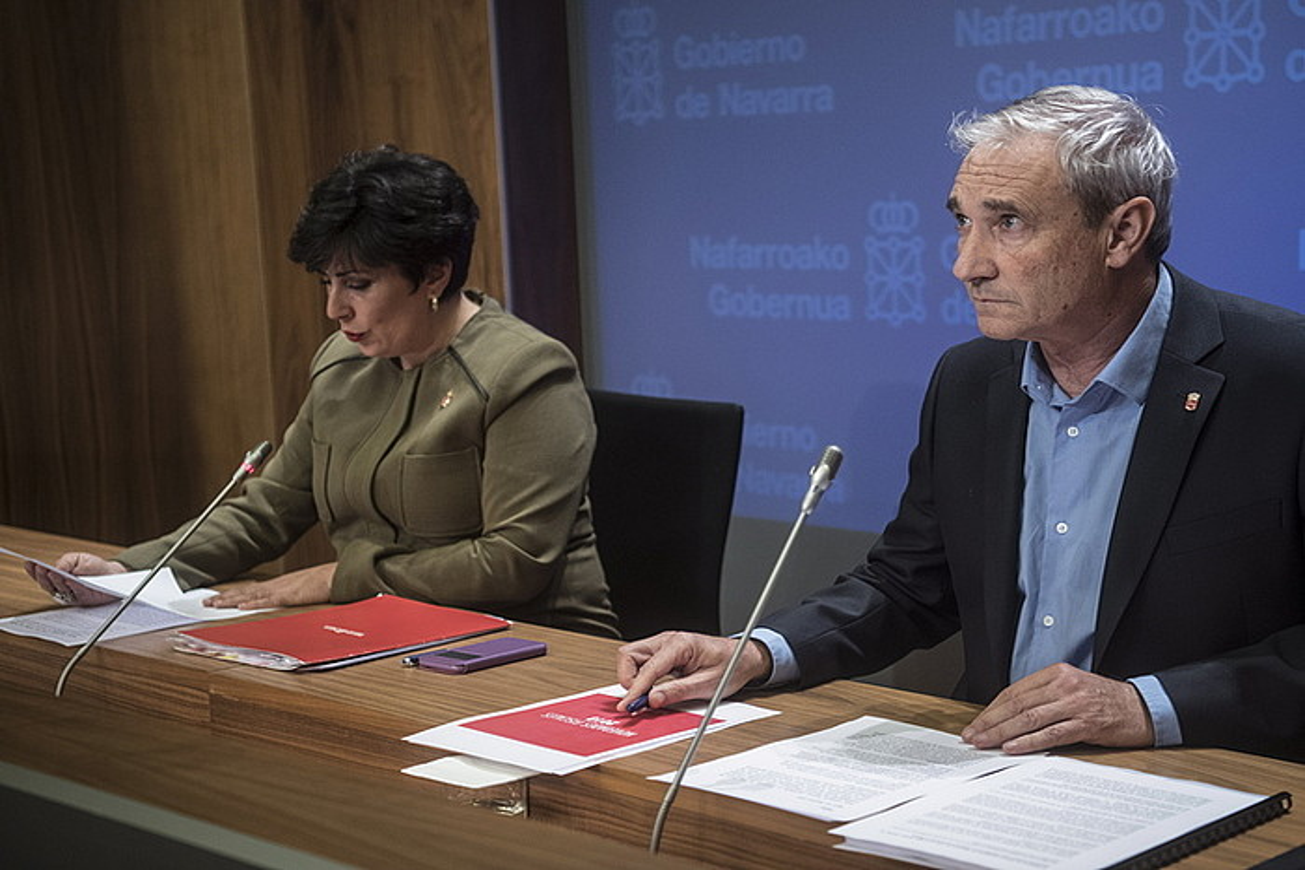 Mikel Aranburu, Nafarroako Ogasun kontseilaria. ©JAGOBA MANTEROLA / ARP