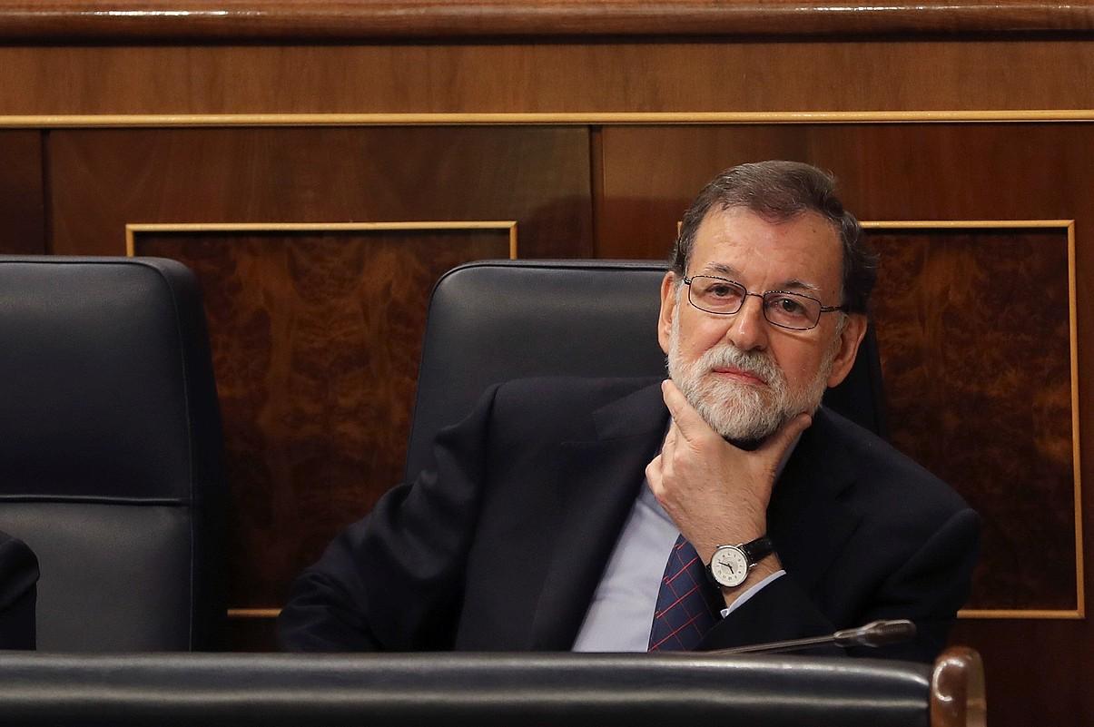 Mariano Rajoy Espainiako gobernuburua aste honetan Kongresuan, kontrol saio batean.