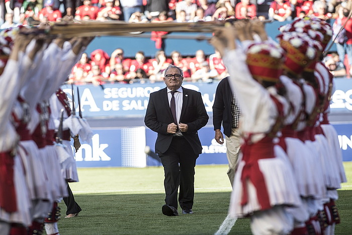 Luis Sabalza, Sadar estadioaren 50. urteurrenaren festan.