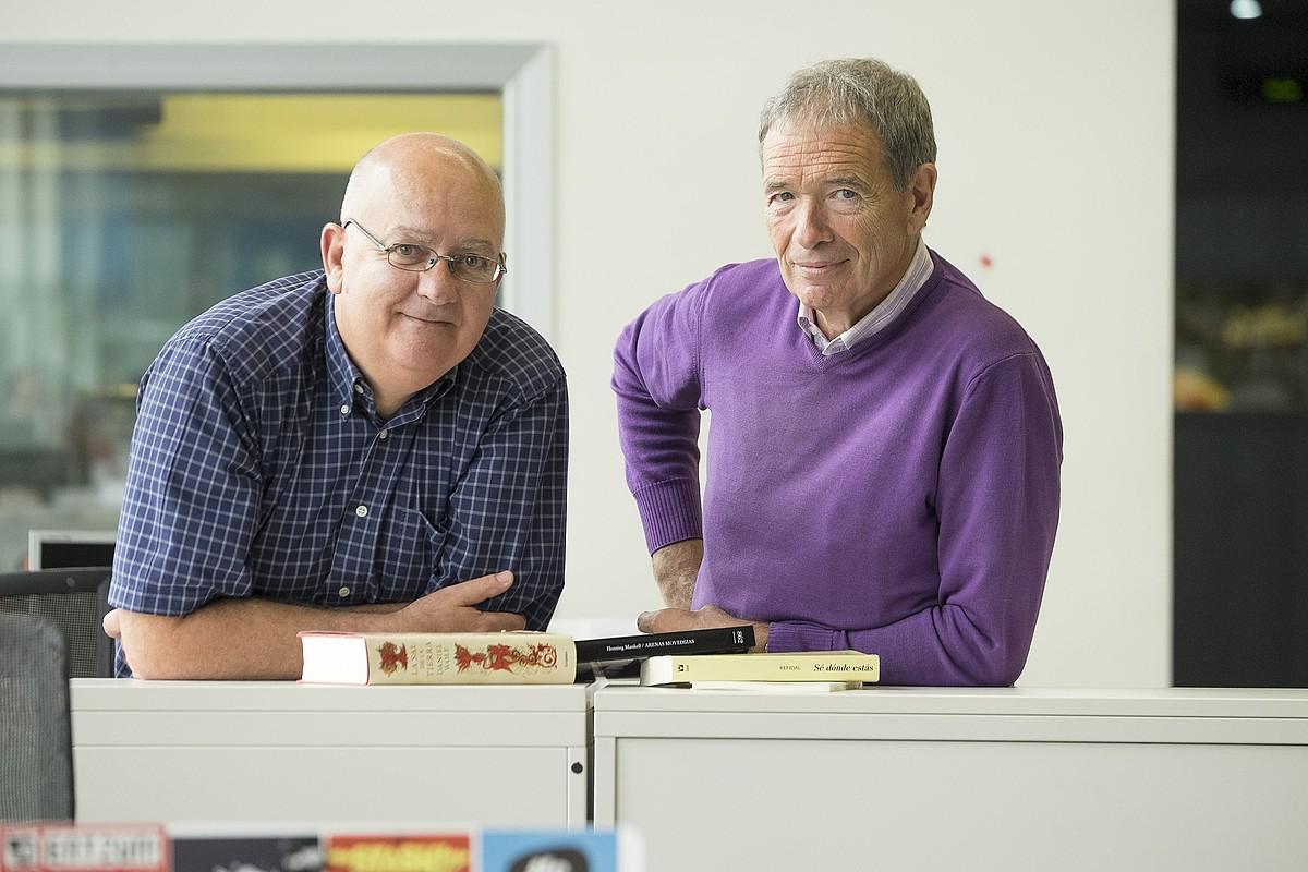 Kike Martinek eta Felix Linaresek sortu zuten <em>Pompas de papel</em> saioa.