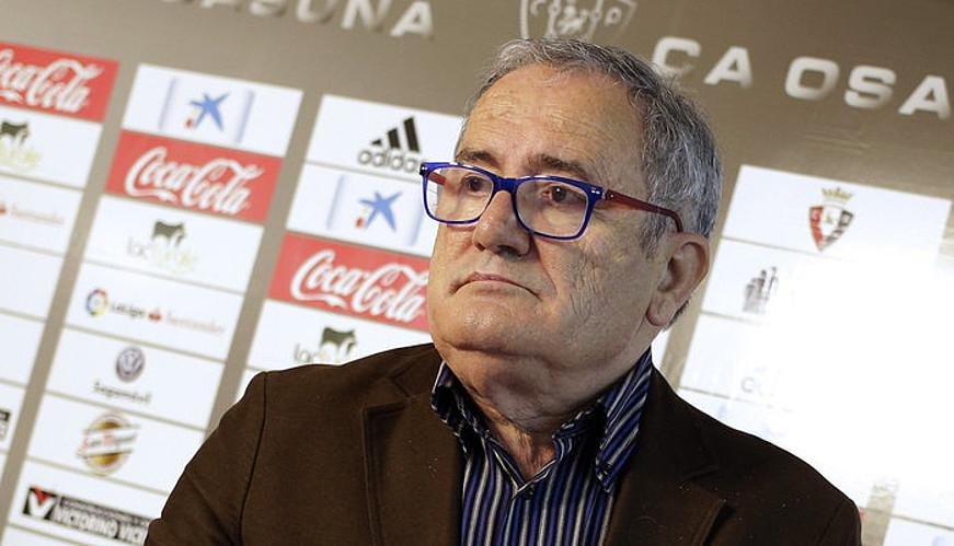 Luis Sabalza, artxiboko argazki batean.