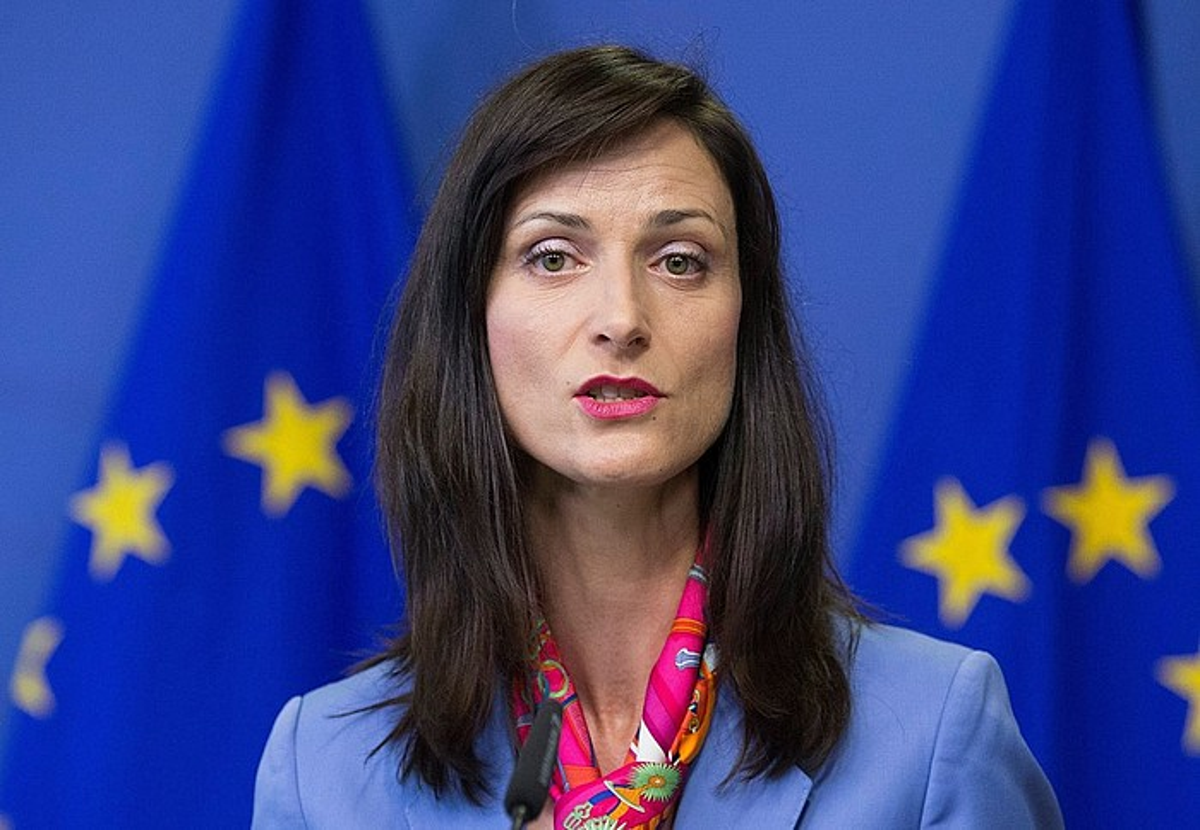 Mariya Gabriel bulgariarra da Europako Batasuneko Ekonomia Digitalerako komisarioa. ©OLIVIER HOSLET / EFE