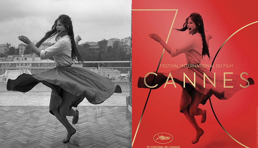 Claudia Cardinale aktorearen irudia erabili zuten Cannesko film festibalean; bere gorputza argaldu zutela salatu zuten sare sozialetan. ©BERRIA