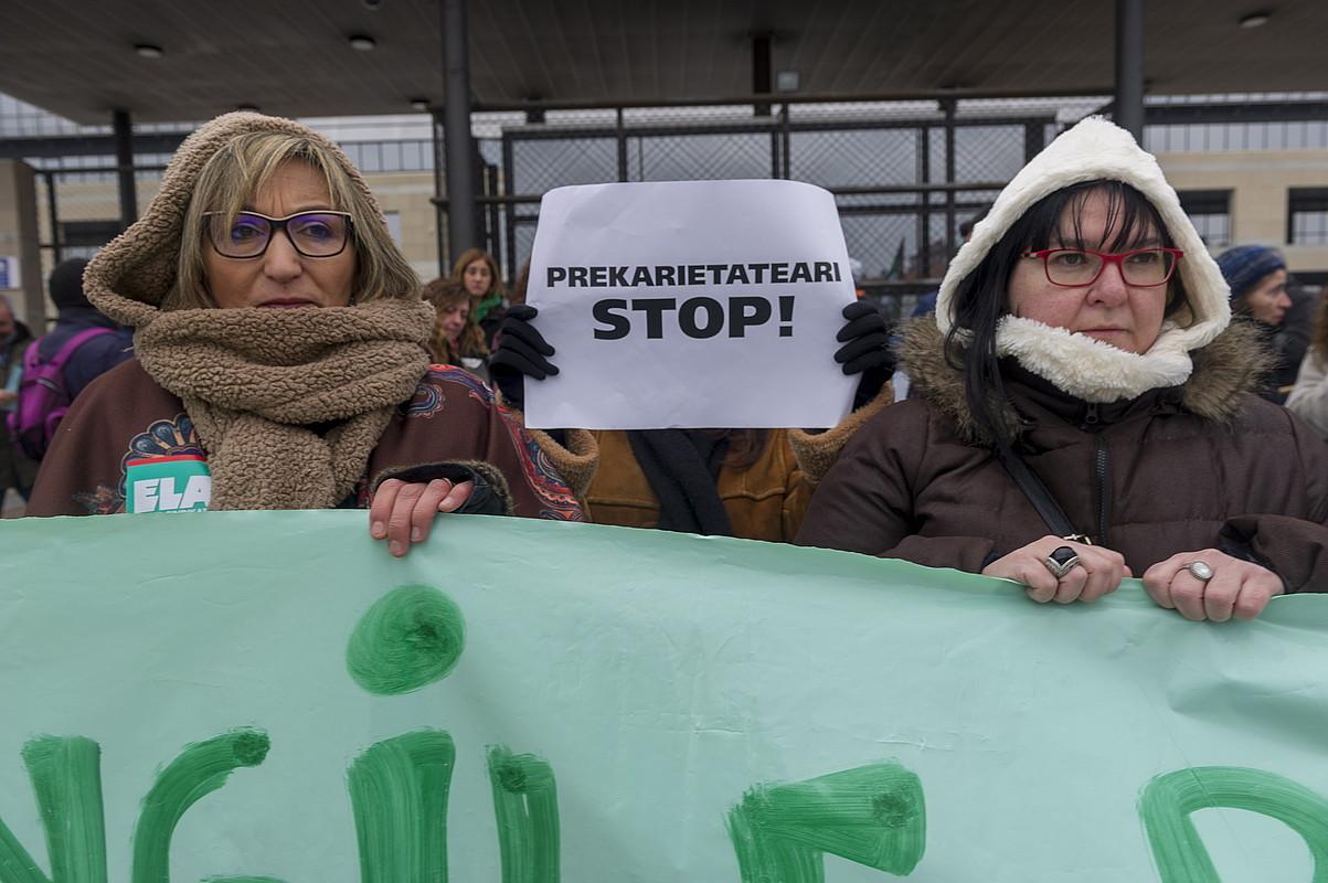EAEko administrazio orokorreko langileen protesta, joan den urtarrilean, Gasteizen. ©JUANAN RUIZ / ARGAZKI PRESS