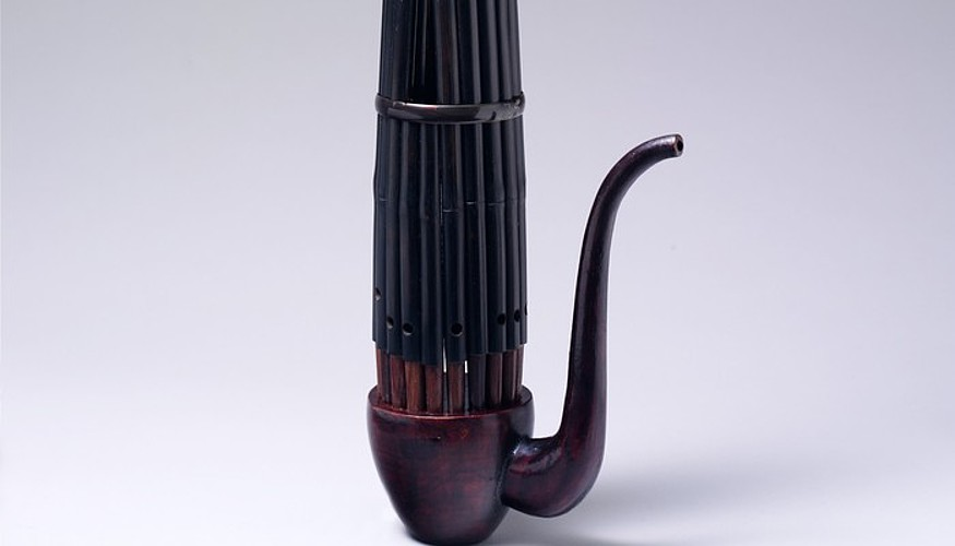 Musika instrumentua: Txinan <em>sheng</em> deitzen zaio, Japonian <em>sho</em>. ©BERRIA