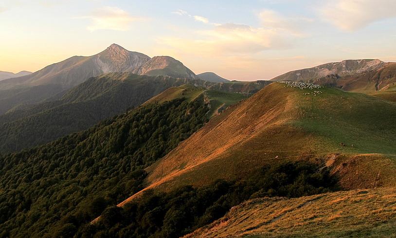 Orhi mendia, Mehatze lepotik ikusita. Ederra da paisaia. ©MIKEL ARRIZABALAGA