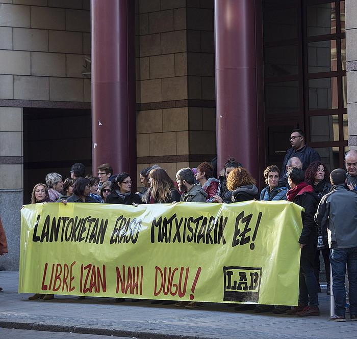 Sindikatuaren protesta. ©SINAD