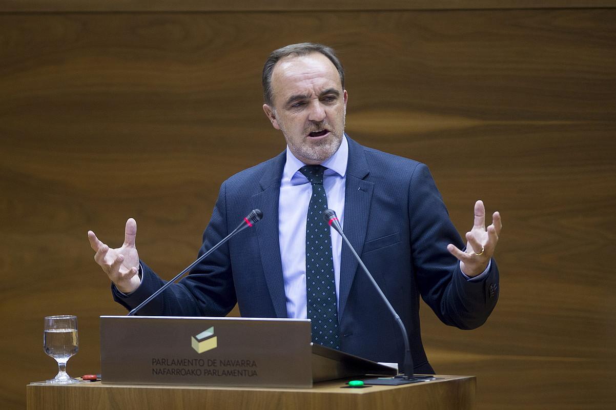 Jose Javier Esparza UPNko presidente eta eleduna. ©IÑIGO URIZ / ARGAZKI PRESS