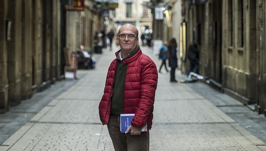 Aingeru Epaltza, atzo, Donostian. ©JON URBE / ARGAZKI PRESS