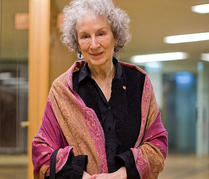 Margaret Atwood idazlea, Koloniako (Alemania) literatura jaialdian, 2014an.