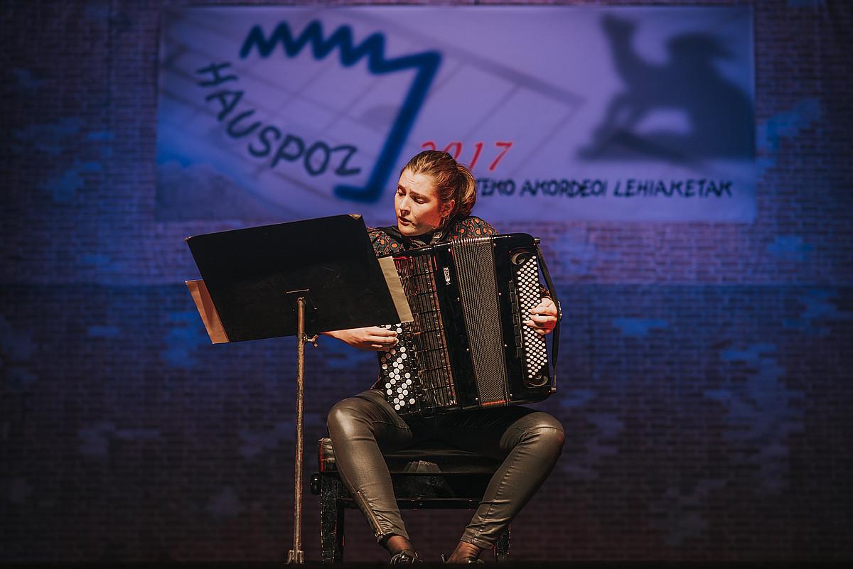 Maria Zubimendi, Arrasate Hirian emandako emanaldian. ©BERRIA