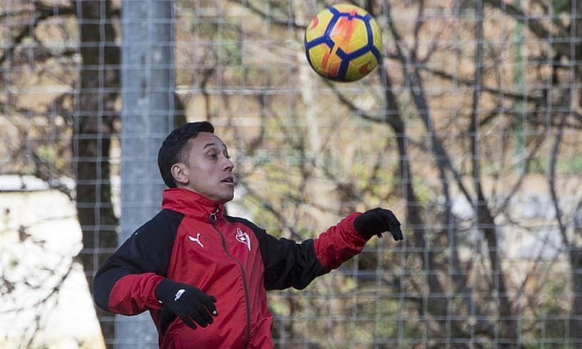 Fabian Orellana, herenegun, Atxabalpen entrenatzen. ©GORKA RUBIO / ARGAZKI PRESS