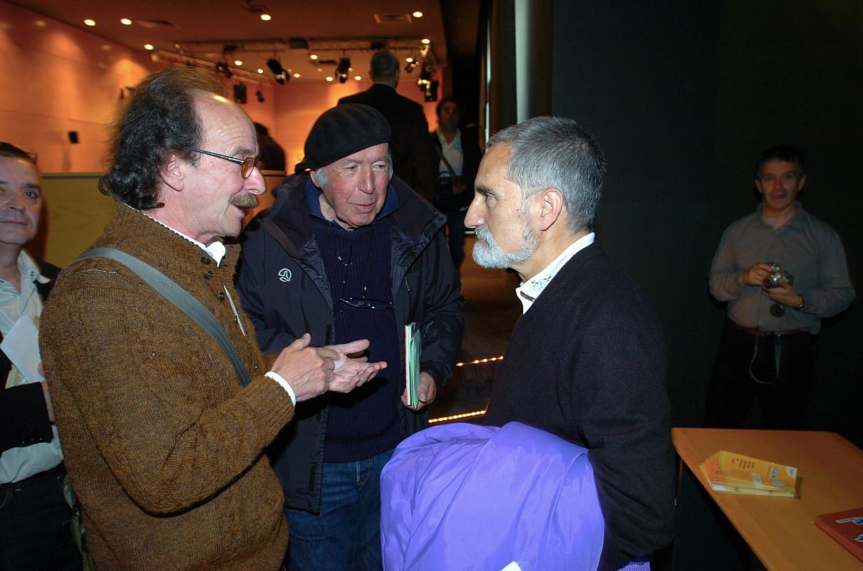 Joxan Artze, Mikel Laboa eta Xabier Lete, 2007an, <em>Isturitzetik Tolosan barru</em> liburuaren berrargitalpenean.