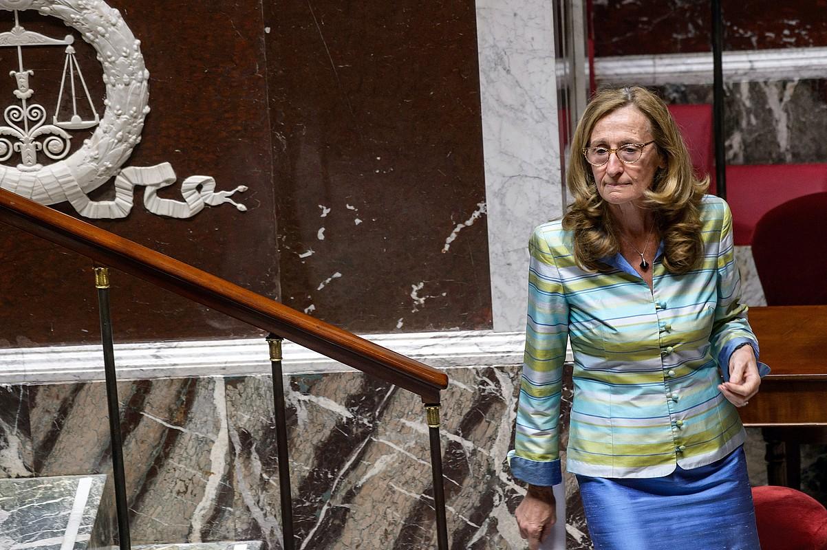 Nicole Belloubet Frantziako Justizia ministroa, Frantziako Asanblean, abuztuaren 9an eginiko saioan. / CHRISTOPHE PETIT TESSON / EFE