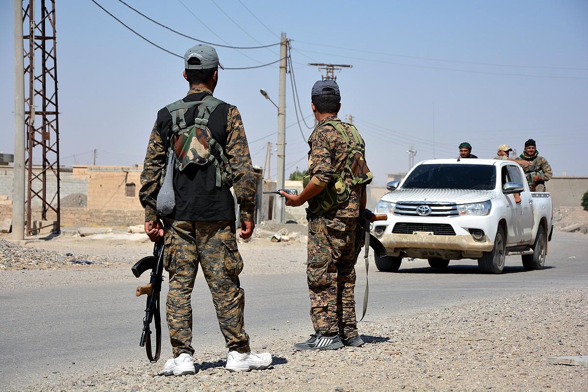 SDF Siriako Indar Demokratikoen milizianoak, Raqqan.