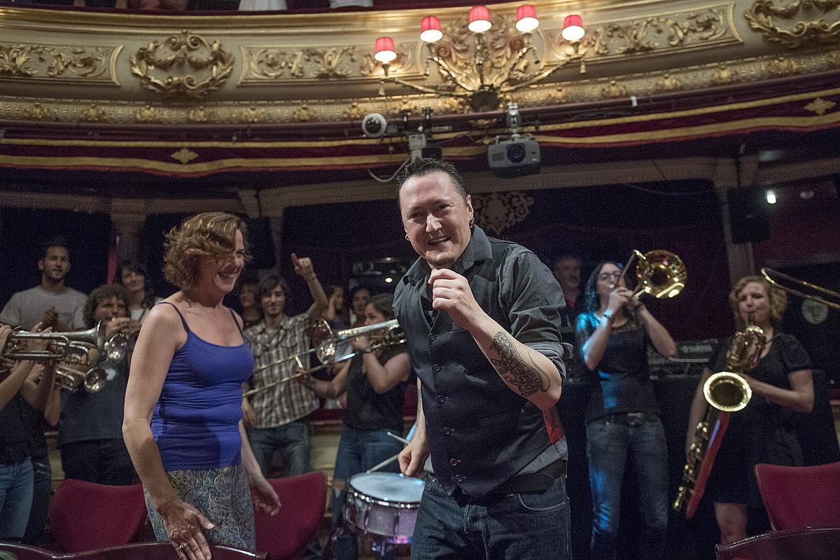 Michaela Chalmeta Big Band-ekin eman zuen kontzertua joan den ekainean, Donostian, Adarra saria jasotzeko ekitaldian. ©JUAN CARLOS RUIZ / ARGAZKI PRESS