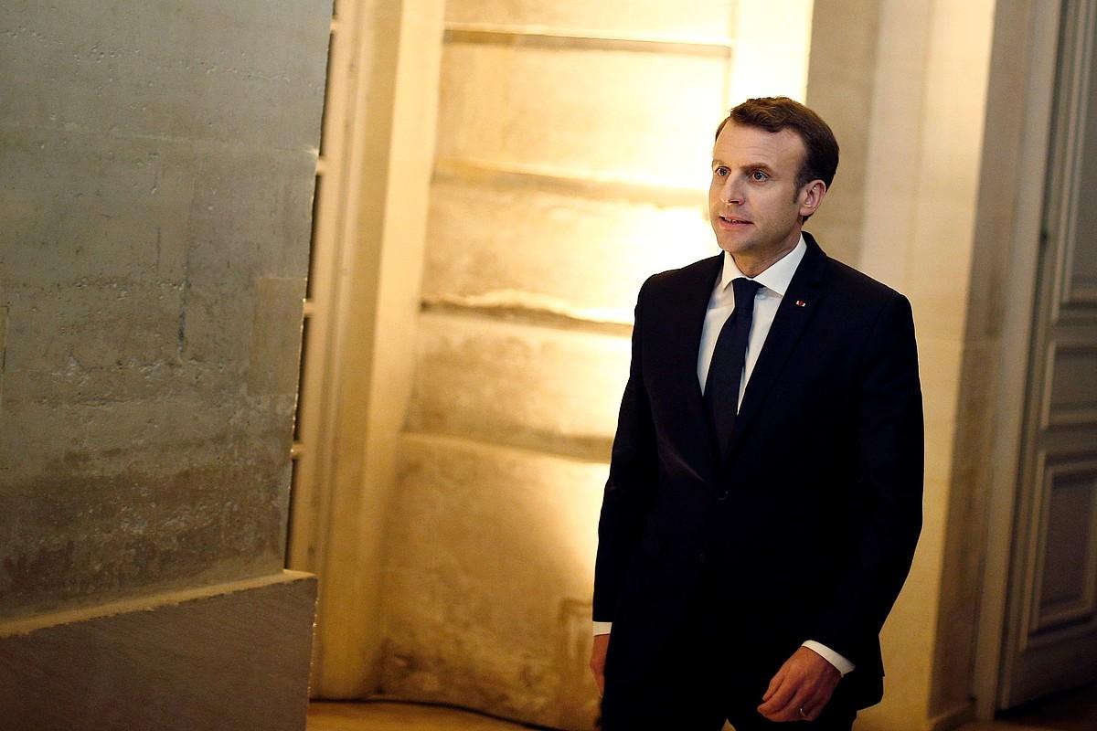 Emmanuel Macron Frantziako presidentea, iragan urtarrilaren 22an, Versaillesen.