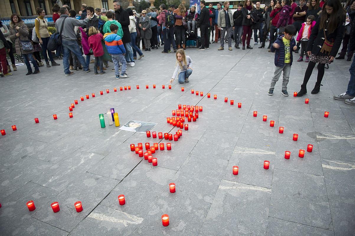 Adingabe transexualen eskubideen aldeko elkarretaratzea, Donostian.