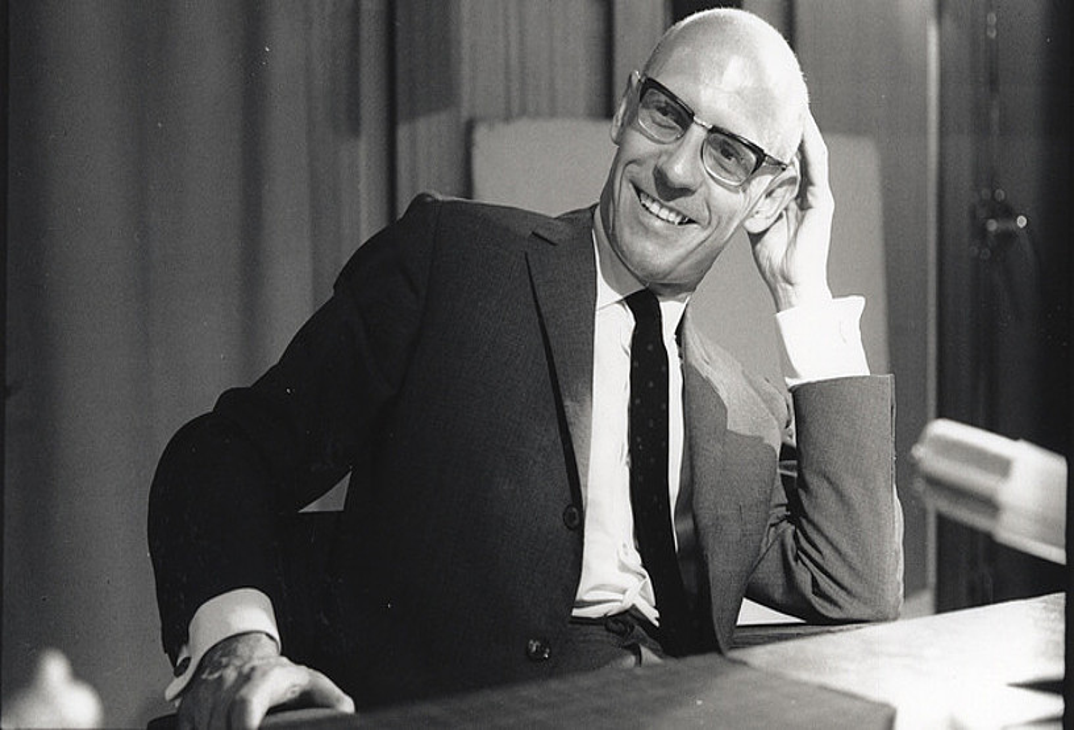 Michel Foucault, artxiboko irudi batean. ©MARC GARANGER / GALLIMARD ARGITALETXEA