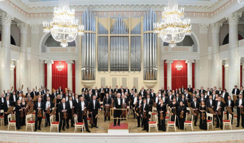 San Petersburgoko Orkestra Sinfonikoa, artxiboko irudi batean. Bilbon jo zuen iragan ostiralean. ©BERRIA