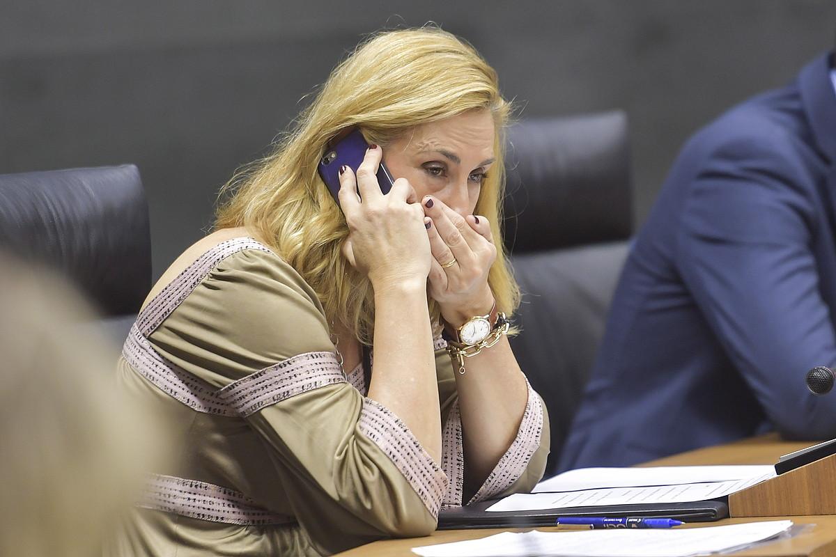 PPko Ana Beltran Nafarroako Parlamentuan, artxiboko irudi batean. ©IDOIA ZABALETA / ARGAZKI PRESS
