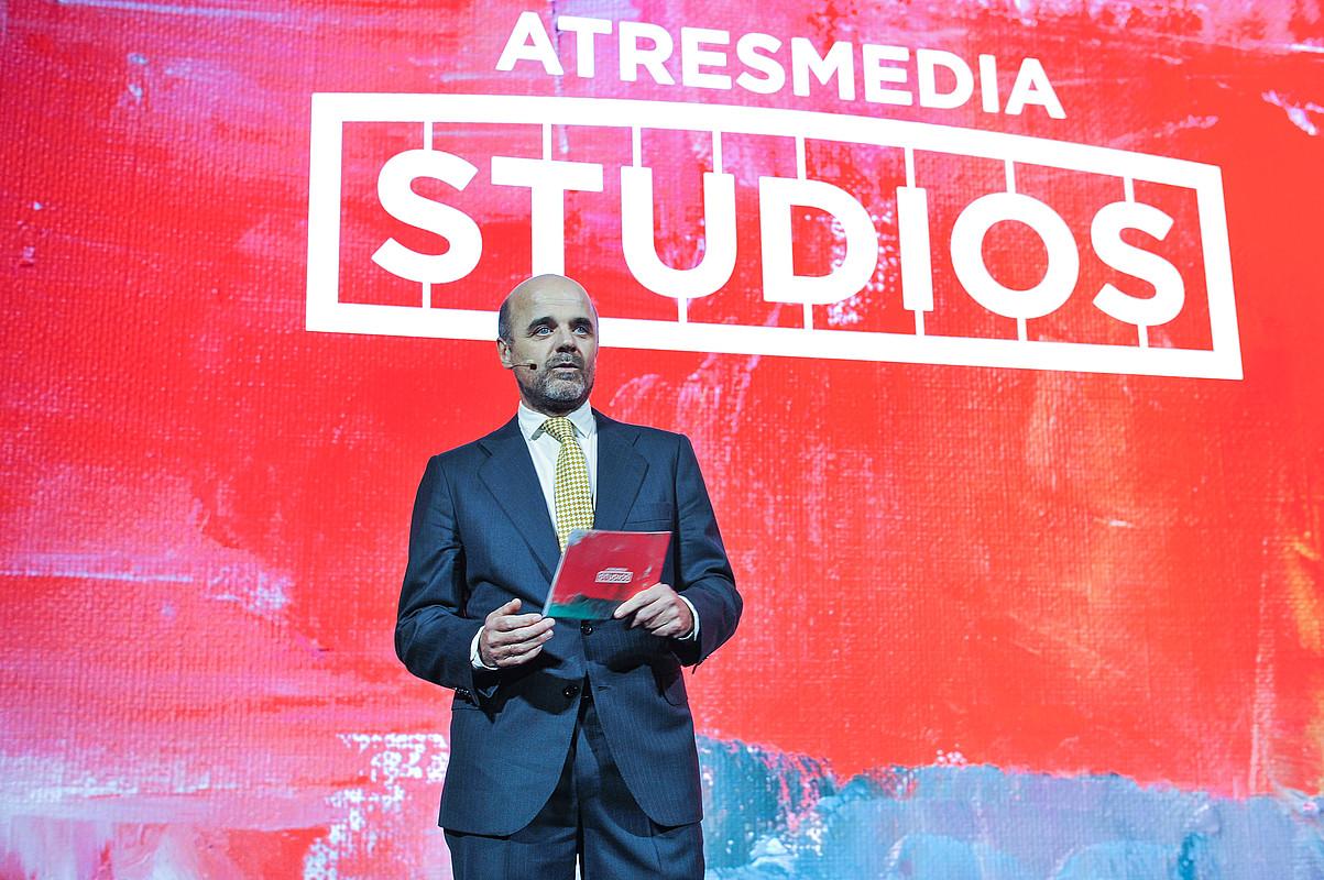 Ignacio Corrales Atresmedia Studios konpainiako zuzendari nagusia, astearte gaueko aurkezpenean. ©RAFAEL BRAVO