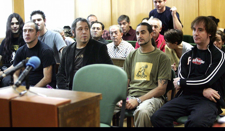 <b>Soziedad Alkoholika. </b>2006an epaitu eta absolbitu egin zuten taldea Espainiako Auzitegi Nazionalean. ©FERNANDO ALVARADO / EFE