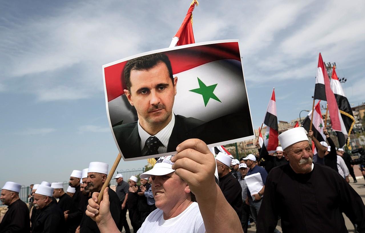 Siriaren independentziaren 72. urteurrena ospatu zuten atzo. Irudian, Golango Gaineko ospakizunak. ©ATEF SAFADI / EFE