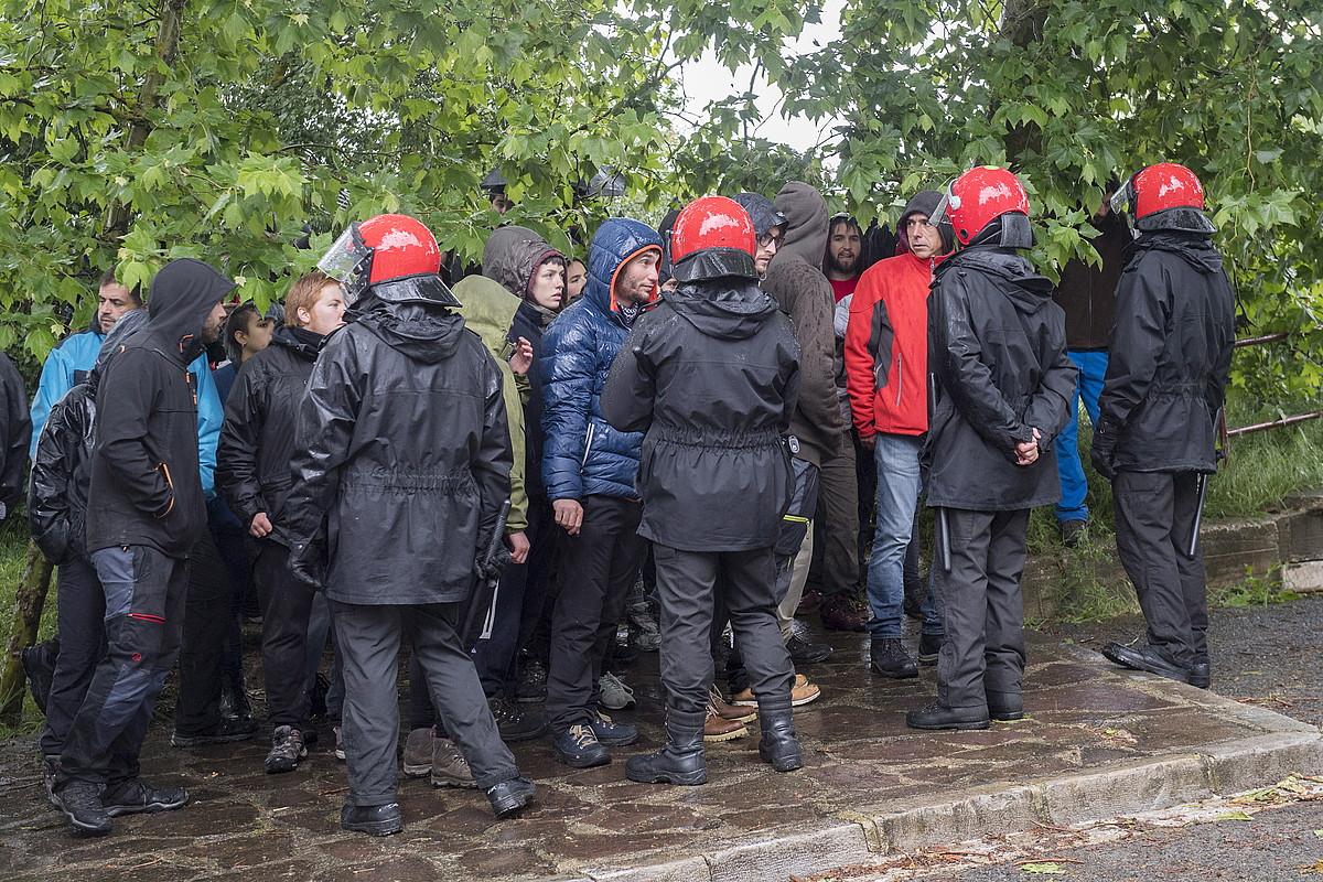 Iragan maiatzean Errekaleorren egindako polizia operazioa. ©GORKA RUBIO / FOKU