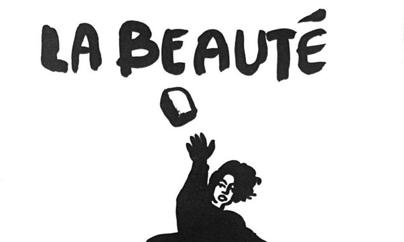 Montpellierko Arte Eder Tailerreko kideek 1968ko maiatzean egin zuten <i>Edertasuna kalean da</i> afixa. ©. / EZEZAGUNA
