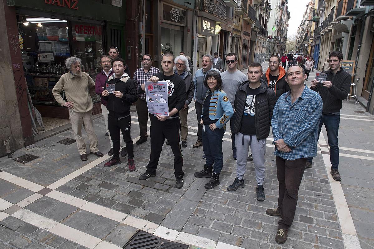Gor diskoetxeak kaleratutako diskoaren harira Iruñean egindako aurkezpenaren irudia. / GORKA RUBIO / FOKU