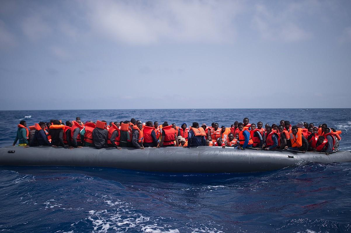 Iragan apirilaren 18an Mediterraneoan erreskatatutako errefuxiatuak. ©CHRISTOPHE PETIT TESSO / EFE