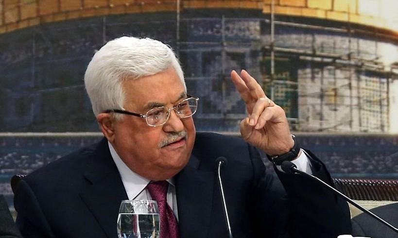 Mahmud Abbas presidentea, asteazkenean, Palestinako Kontseilu Nazionaleko bilkuran, Ramallahen. ©ALAA BADARNEH / EFE