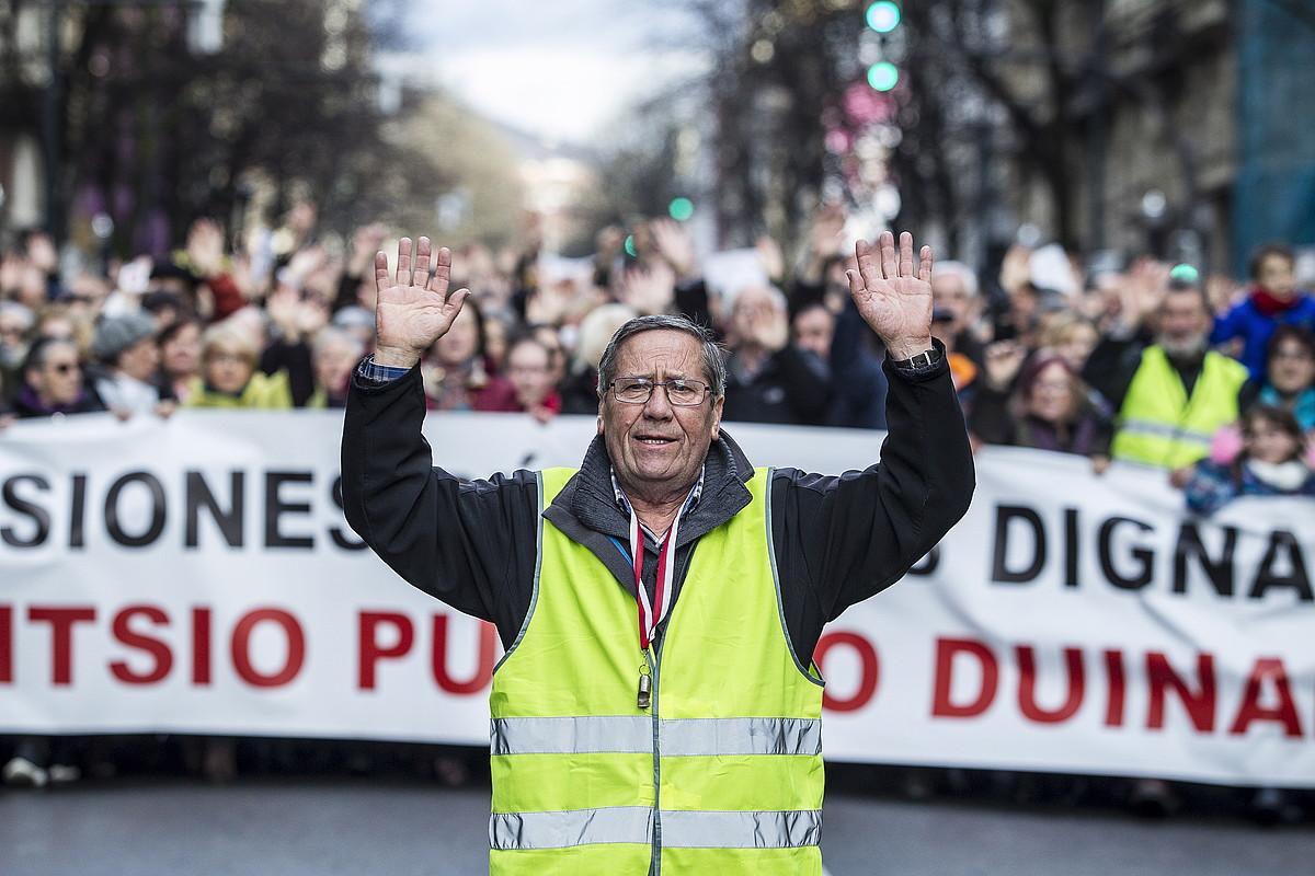 Joan den martxoan pentsiodunek egindako manifestazioa. ©ARITZ LOIOLA / FOKU