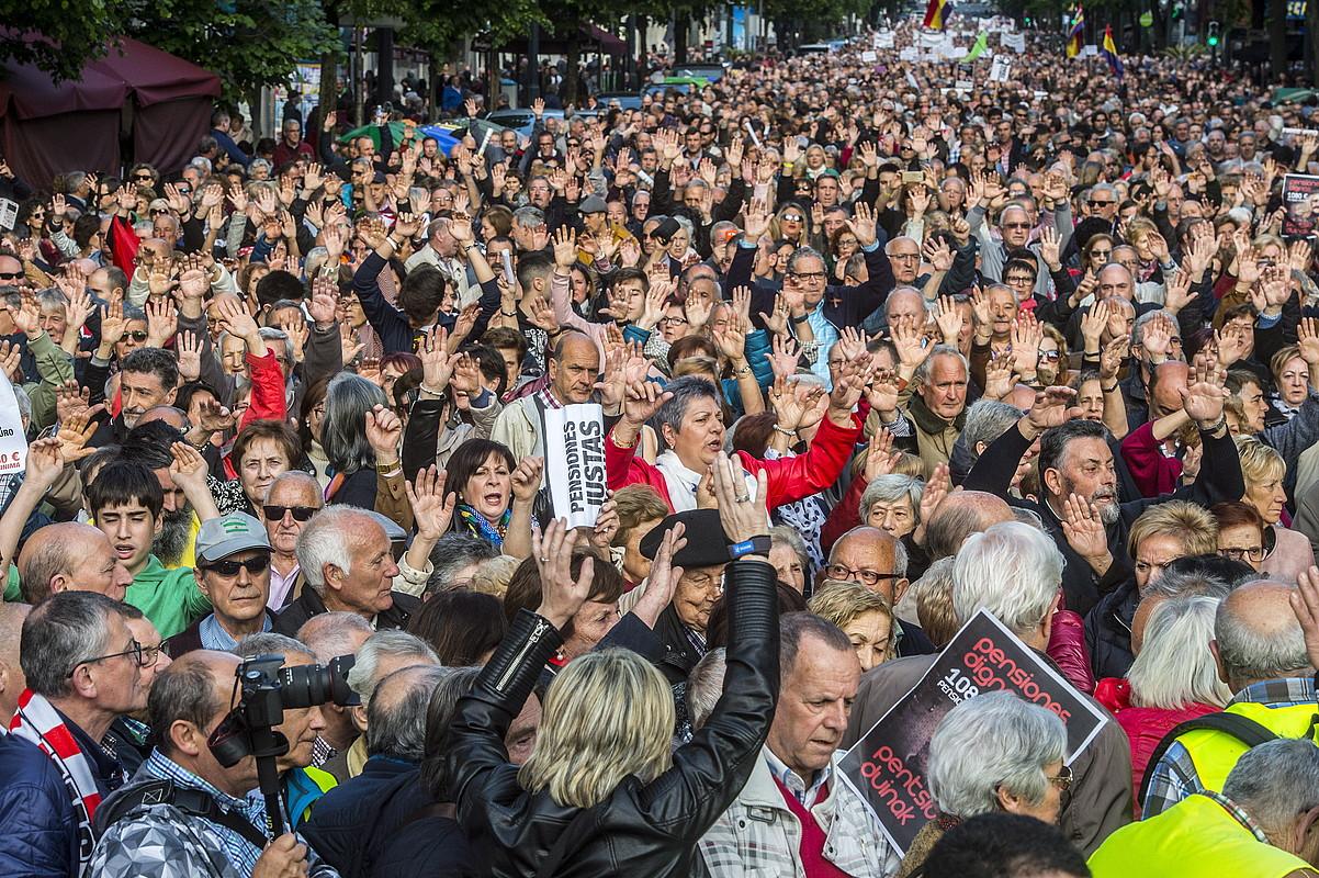 Bilboko manifestazioa. ©MARISOL RAMIREZ / FOKU