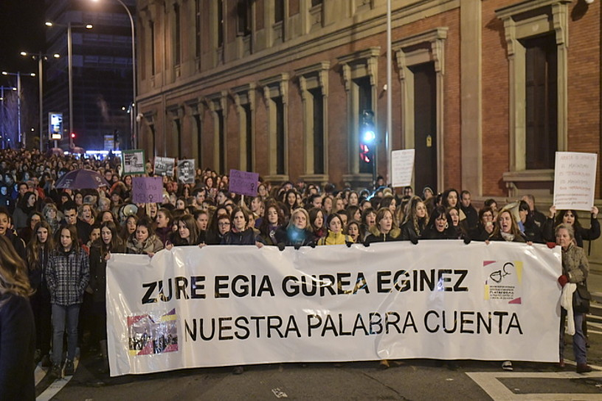 Indarkeria matxistaren aurkako protesta bat, iaz, Iruñean. ©IDOIA ZABALETA / FOKU