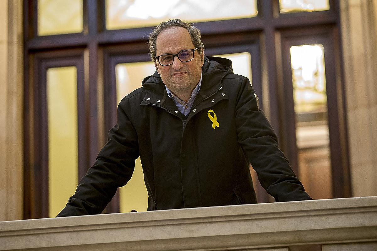 Quim Torra JxC Junts Per Catalunyako diputatua, Kataluniako Parlamentuan. ©ALBERT SALAME / VILAWEB