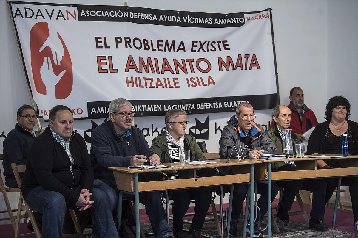 Ilintxeta, Uzkudun, Bengoetxea, Bueno, Castaño eta Herrero, atzo, Iruñean.