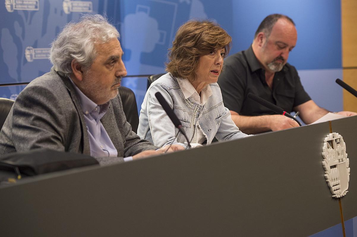 Cristina Uriarte Hezkuntza sailburua, atzo. ©MONIKA DEL VALLE / FOKU