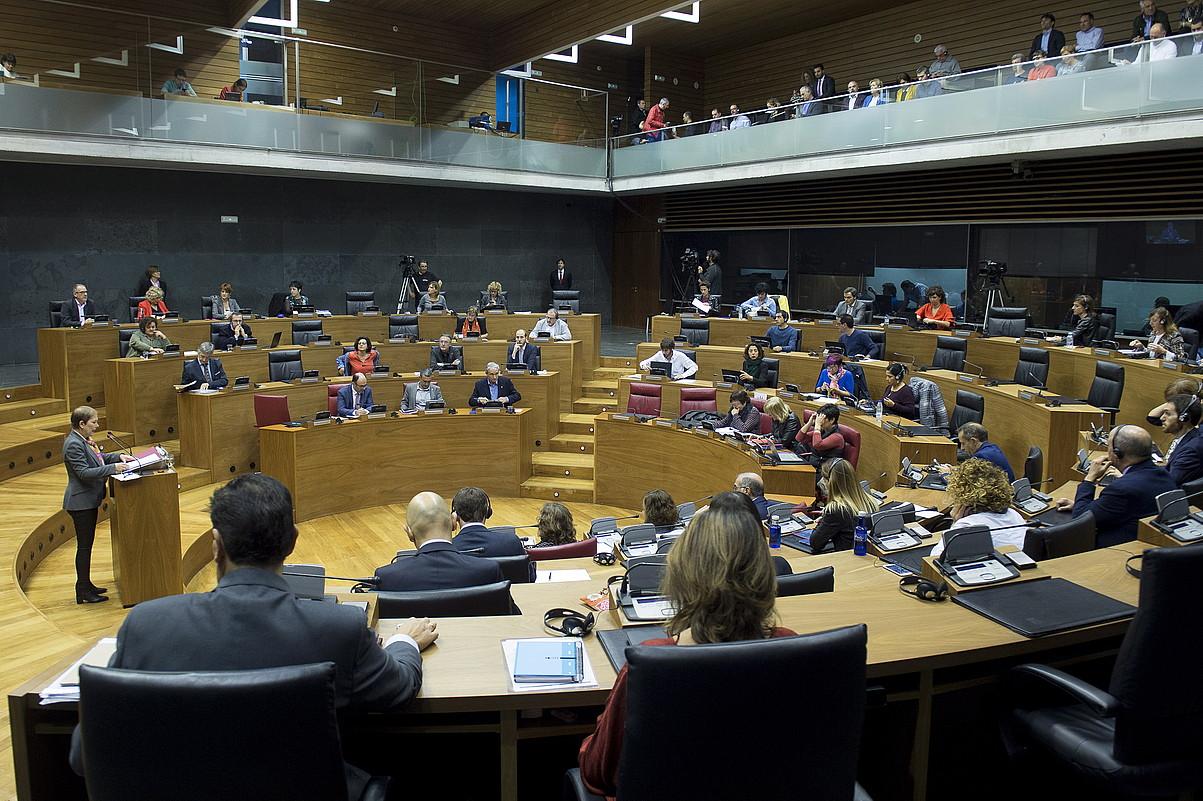 Osoko bilkura Nafarroako Parlamentuan. ©IÑIGO URIZ / FOKU