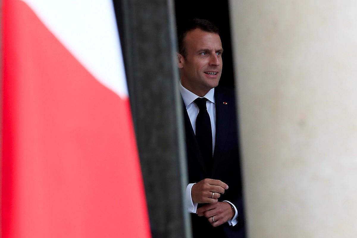 Emmanuel Macron Frantziako presidentea, joan den astean, Eliseo jauregian. ©GONZALO FUENTES / EFE