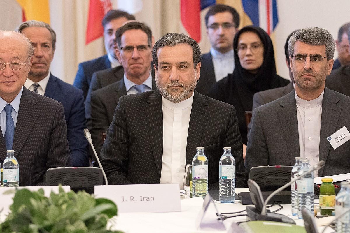Abbas Araghchi Irango Atzerri ministroa, atzo Vienan egindako bileran. ©FLORIAN WIESER / EFE