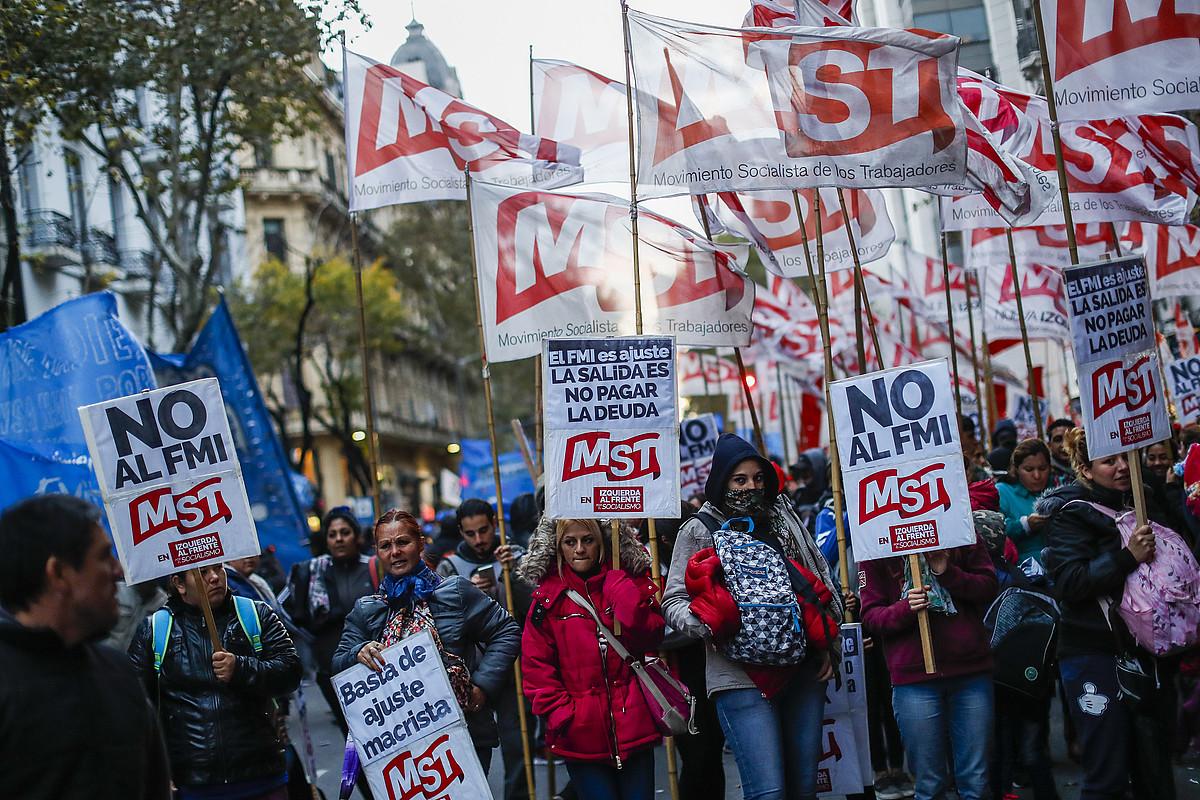 NDFren kontrako manifestazioa, Buenos Airesen, duela bi aste. ©DAVID FERNANDEZ / EFE