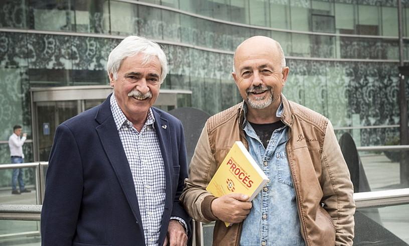 Ramon Zallo eta Txema Garcia, atzo, Bilbon.