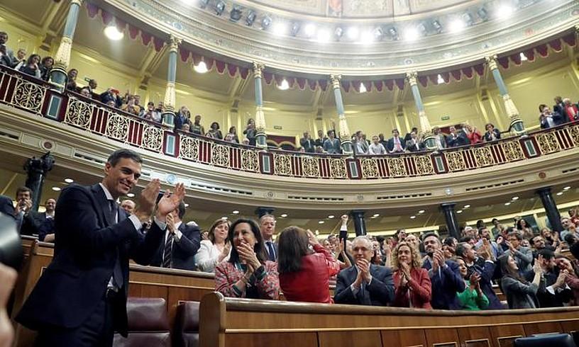 Pedro Sanchez, atzo, presidente izendatu zutenean.